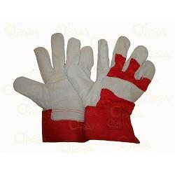 Rokavice delovne univerzalne rdeče-usnjene